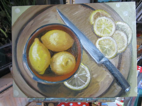 Lemons in terracotta