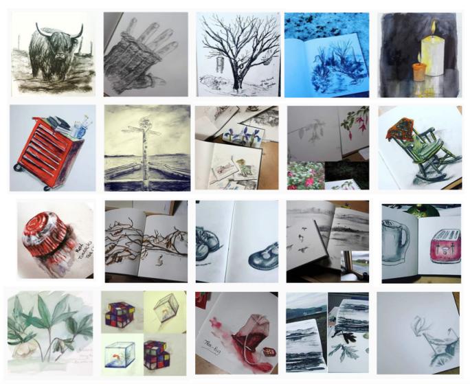 Twenty days of the sketchbook challenge